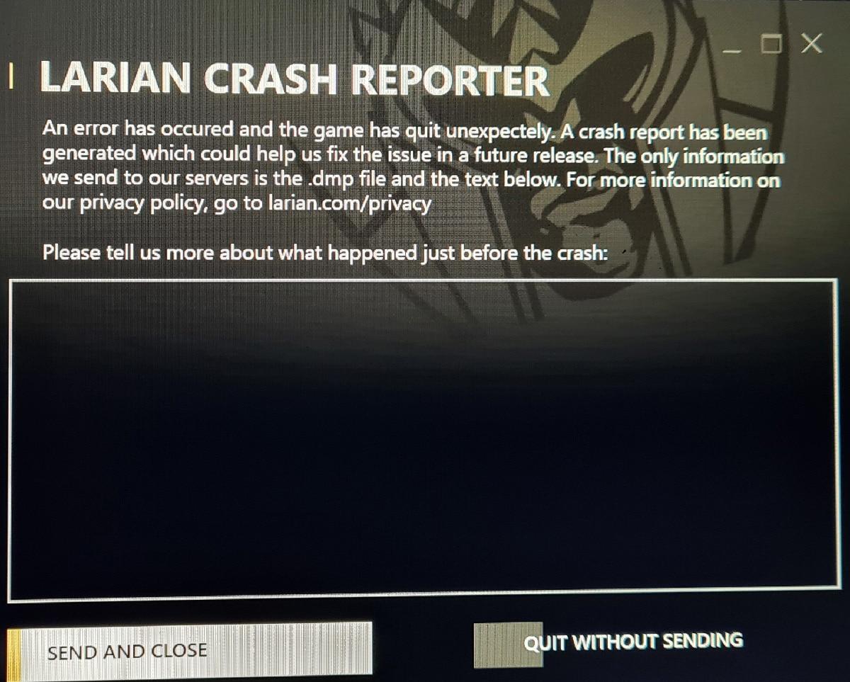 Larian Crash Reporter
