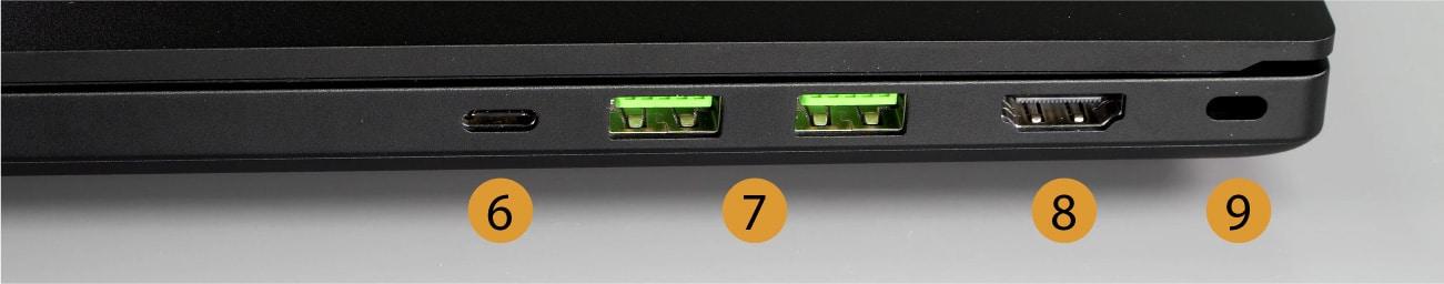 razer blade 15 base right connectors