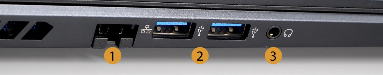 Acer Predator Helios 300 Left Connectors