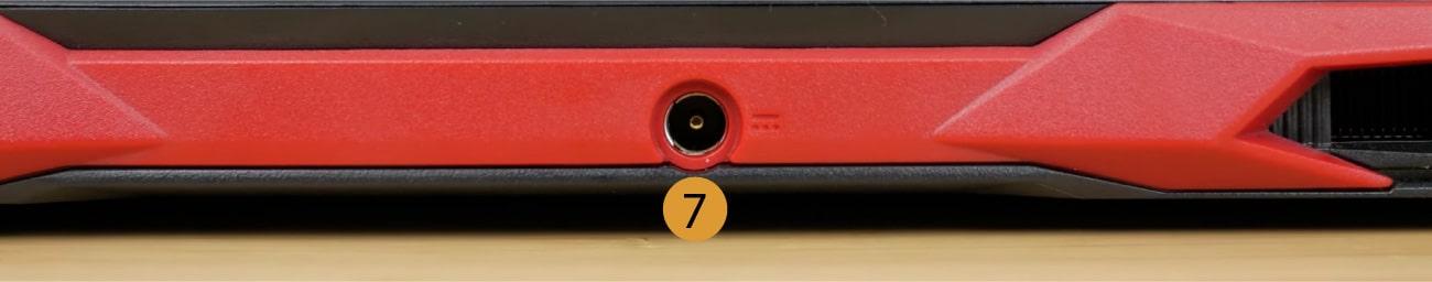 Acer Nitro 5 connectors back