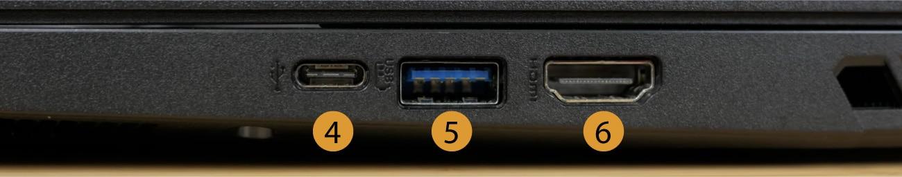 Acer Nitro 5 connectors right