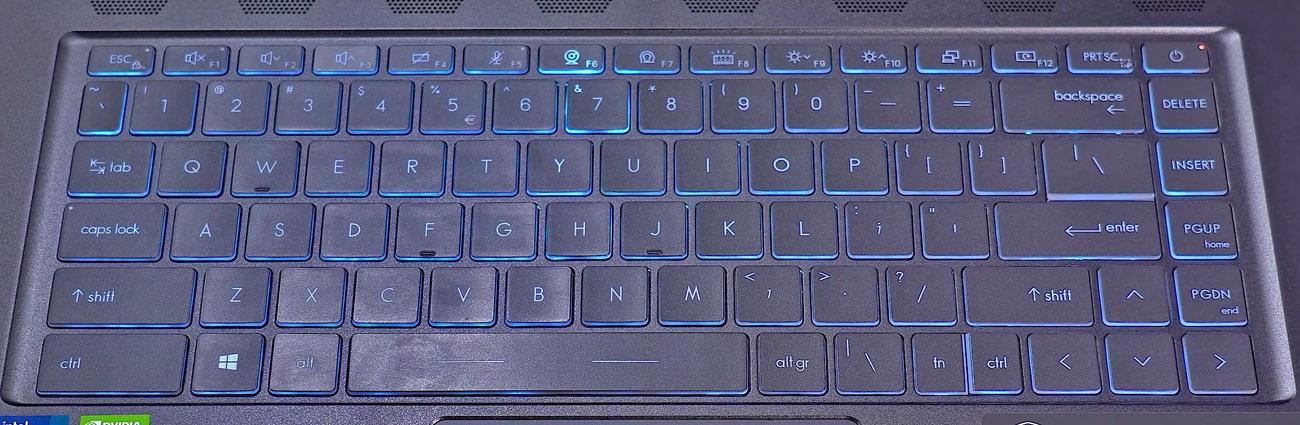 MSI Stealth 15M - keyboard