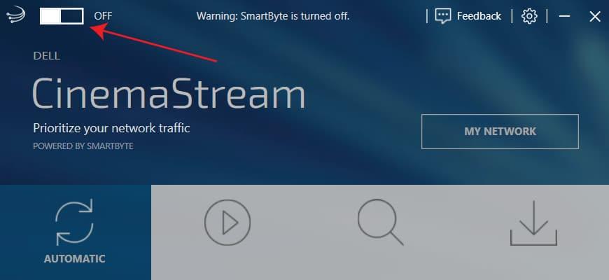 SmartByte - turn off